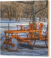 The Old Grader Wood Print by Robert Pearson