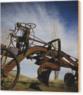The Old Grader Wood Print