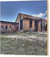 The Old Haunted Barn Wood Print
