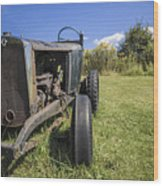 The Old Jalopy Wood Print