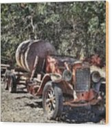 The Old Jalopy In Wine Country, California  Wood Print