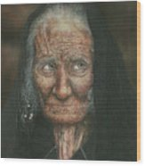 The Old Lady Wood Print