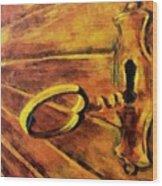 The Old Lock Wood Print