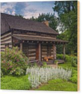The Old Log Home  Wood Print