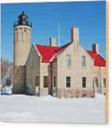 The Old Mackinac Point Lighthouse Wood Print