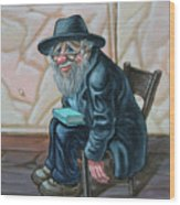 The Old Man Near The Western Wall Wood Print