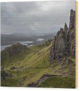 The Old Man Of Storr, Isle Of Skye, Uk Wood Print