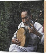The Old Man Plays Zither Wood Print