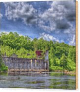 The Old Mckeever Pulp Mill Wood Print
