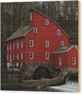 The Old Mill In Clinton Nj Wood Print