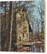 The Old Mill In The Countryside Wood Print