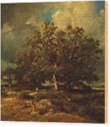 The Old Oak 1870 Wood Print