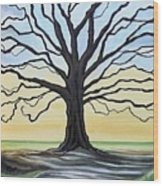 The Stained Old Oak Tree Wood Print