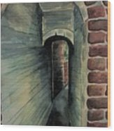 The Old Passageway Wood Print