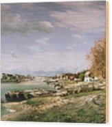The Old Quay At Bercy Wood Print