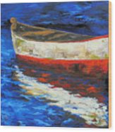 The Old Red Boat II  Wood Print