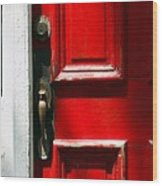 The Old Red Door Wood Print