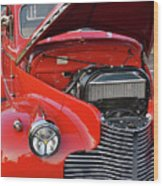 The Old Red Jalopy Wood Print
