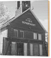 The Old Ridgway Firehouse Wood Print