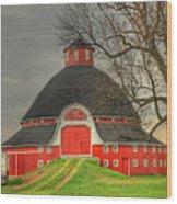 The Old Round Barn Of Ohio Wood Print