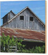 The Old Rusty Barn Wood Print