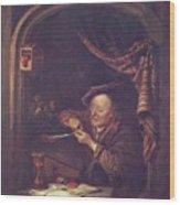 The Old Schoolmaster 1671 Wood Print
