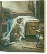 The Old Shepherd's Chief Mourner After Sir Edwin Landseer Wood Print