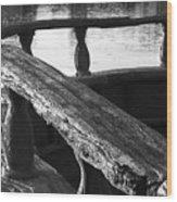 The Old Ships Rail Wood Print
