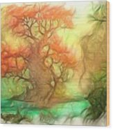 The Old Tree Of The Forest Wood Print