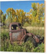 The Old Truck  Chama New Mexico Wood Print