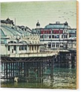 The Old Victorian West Pier Wood Print