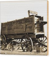 The Old Wagon Wood Print