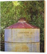 The Old Water Tank Wood Print
