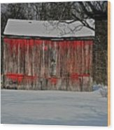 The Old Weathered Barn Wood Print