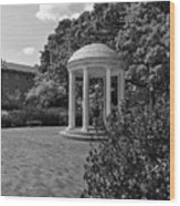 The Old Well At Chapel Hill In Black And White Wood Print