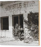 The Old Whistle Stop Cafe Wood Print