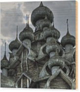 The Old Wooden Church Wood Print