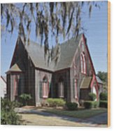 The Old Wooden Church Wood Print by Louise Heusinkveld