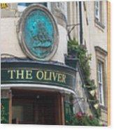 The Oliver Pub Wood Print
