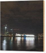 The Olympic Oval At Night Wood Print