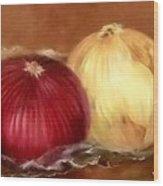 The Onions Wood Print