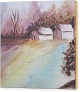 The Open Barn Door Wood Print