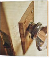 The Open Door Wood Print by Rebecca Sherman