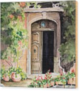 The Open Door Wood Print