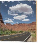 The Open Road - Utah Wood Print
