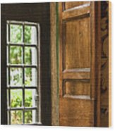 The Open Window Wood Print