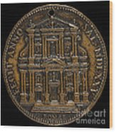 The Opening For Worship Of The Chiesa Del Gesu, Rome [reverse] Wood Print