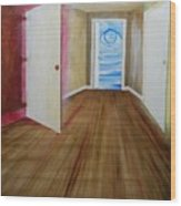 The Opening Of A Door Primary Colors Wood Print
