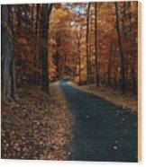 The Orange Road Wood Print