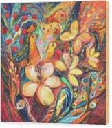 The Orange Wind Wood Print